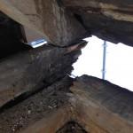 ..tyvärr var även taksparrar/takstolar rötskadade, så även här fick det lagas..