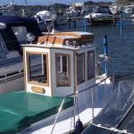 Båtens ägarinna har avslutat jobbet med bravur!